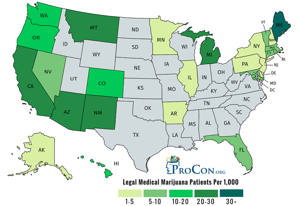 Number of Medical Marijuana Patients in the United States